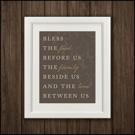 Family Dining Room Quote Art Print By PelletierCreative On Etsy