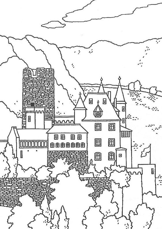 23 best Coloring PagesLineArt Castles images on Pinterest