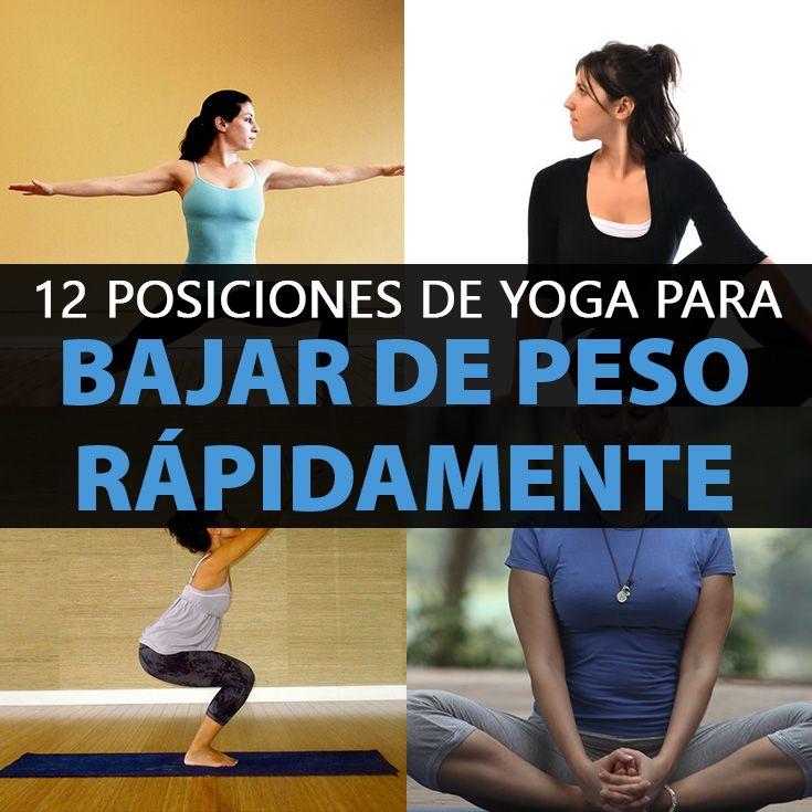 12 Posiciones De Yoga Para Bajar De Peso Yoga Moves Yoga Asanas Yoga Frases