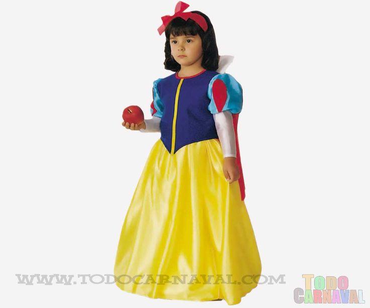 ★Con el  Disfraz Blancanieves para Niña podras recrear mil y una #historia de este famoso persoje de #cuentos ★ www.todocarnaval.com