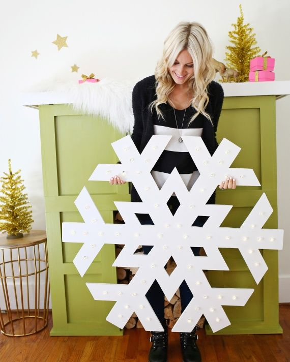 Can-Do Holiday How-Tos with 4 of Our Favorite Bloggers   Martha Stewart Home & Garden GIANT LIGHT UP SNOWFLAKE