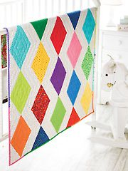 Quilt - Patterns - Pieced Patterns - Babies & Children - Diamonds & Chevrons Baby Quilt Pattern