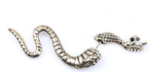 3D snake fake plug gauge earrings