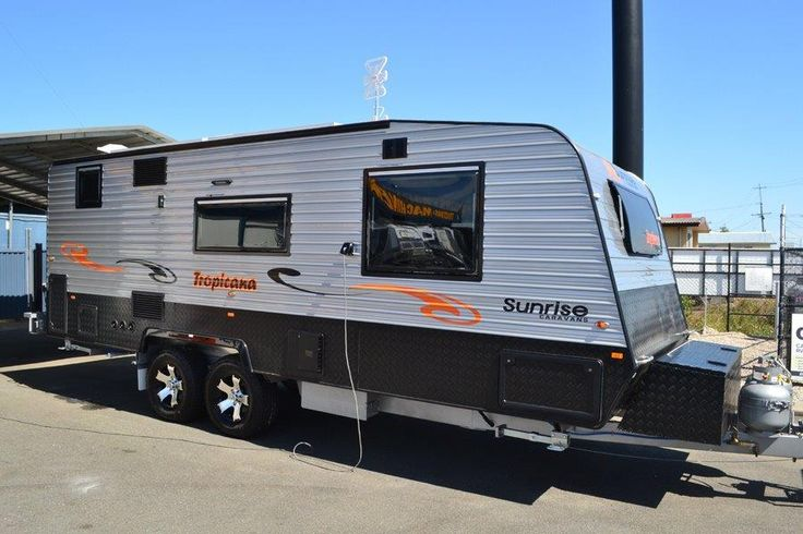 Customers picking up their new van #SunriseTropicana #Caravanning #caravansforsale #SunriseCaravans #exciting #retirement #camping #holidaying