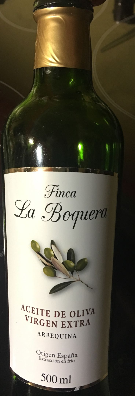 Aceite Finca La Boquera. Arbequina. Cadreita. Navarra