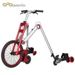 2017 New style lightest thinest four wheel roller skating shoes folding bicycle aluminium Mantis car for adult