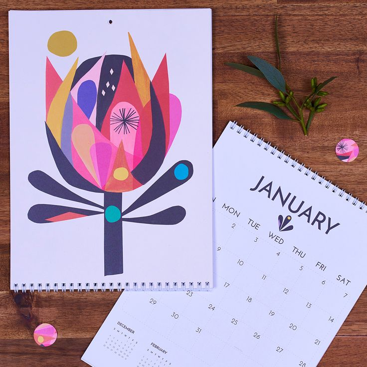 Inaluxe 2017 Calendar, A collaboration between Earth Greetings and Australian artists Inaluxe.