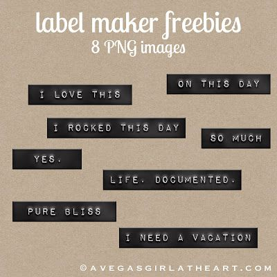 A Vegas Girl at Heart: Freebie Friday: Label Maker Freebies