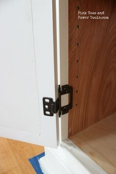 Inset door attached to cabinet