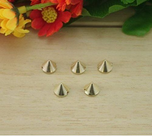 Ottery Acrylic Bullet Cone Spikes Silver Color 100pcs 8x7mm Stud Rock Bracelet Punk Belt Bag Flat Back Conical Findings Supplies -- Find out more about the great product at the image link.