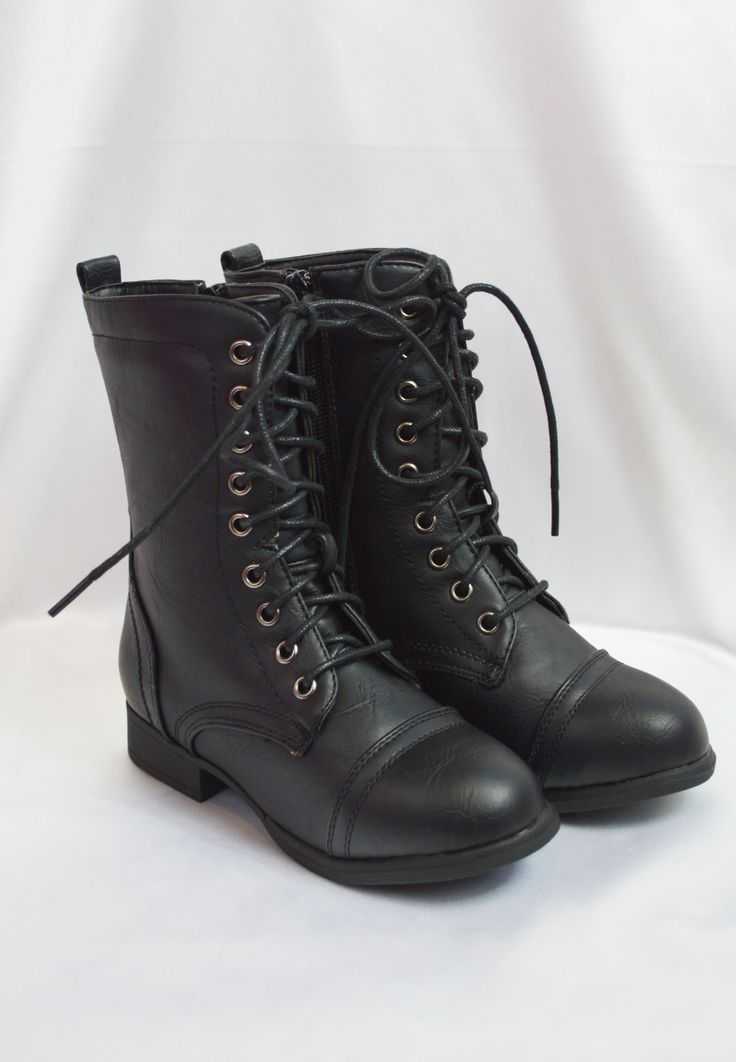 lil belle combat boot - black