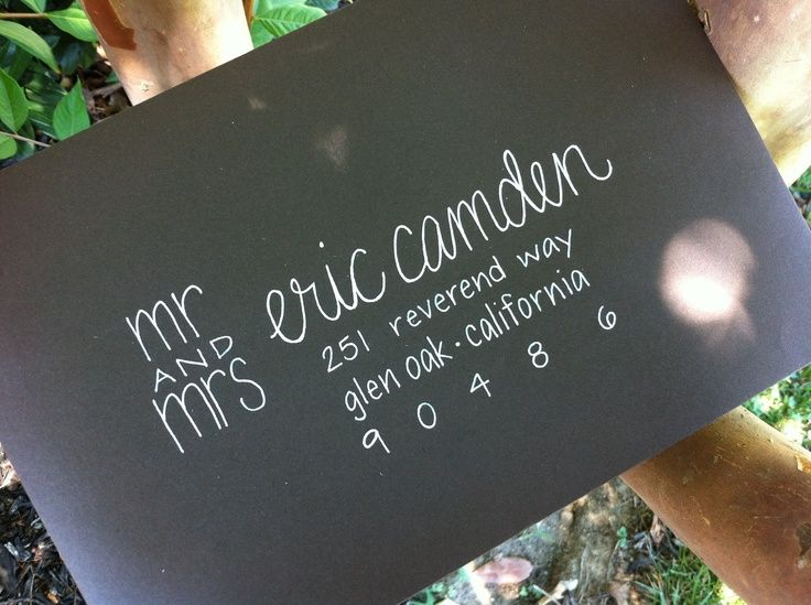 Very cute way to address letters... don't believe in Mrs. [insert husbands full name] though