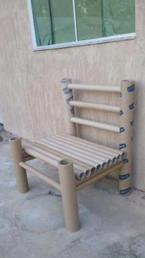 Paper roll chair