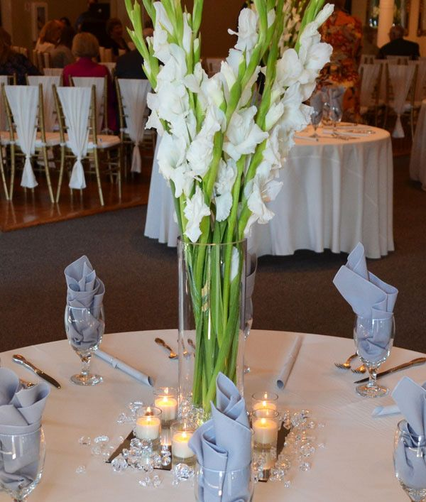 White Gladiolus - perfect choice in august