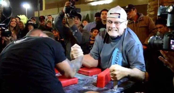 Homem De 70 Anos Vence Braço De Ferro a Oponente Com Quase Metade Da Sua Idade