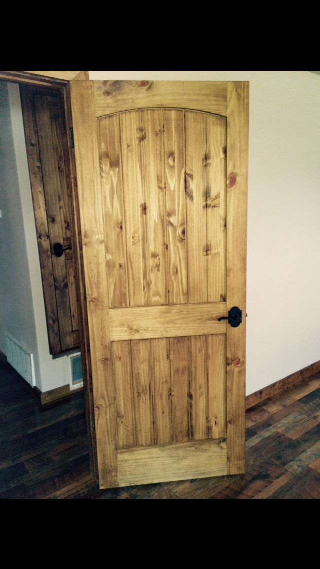 ️my Doors ️ Knotty Pine Doors With Minwax Early American