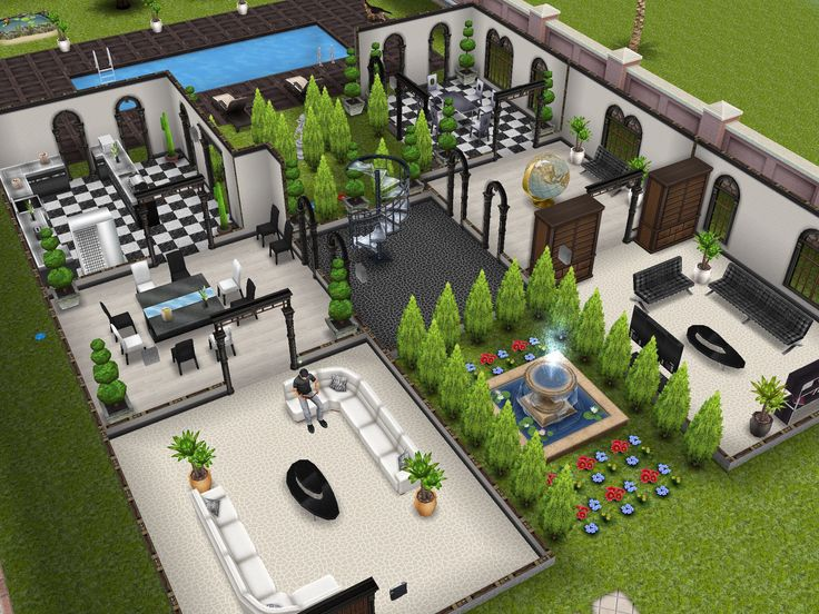Three Story Mansion 1st Floor Designedbyjade Sims