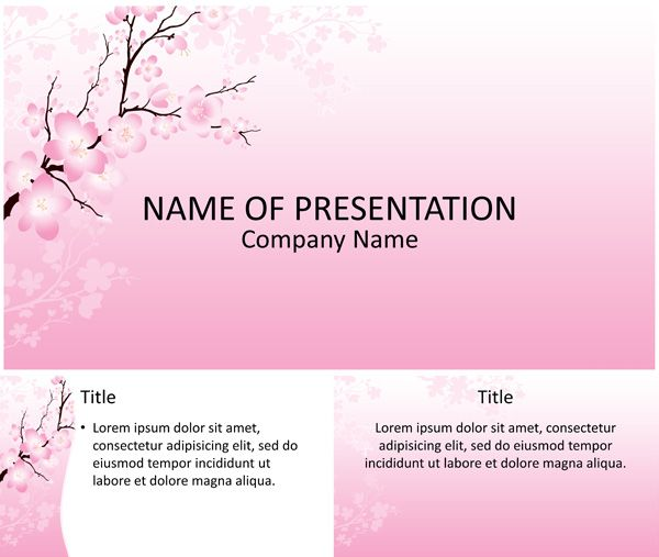 Cherry Blossom PowerPoint Template