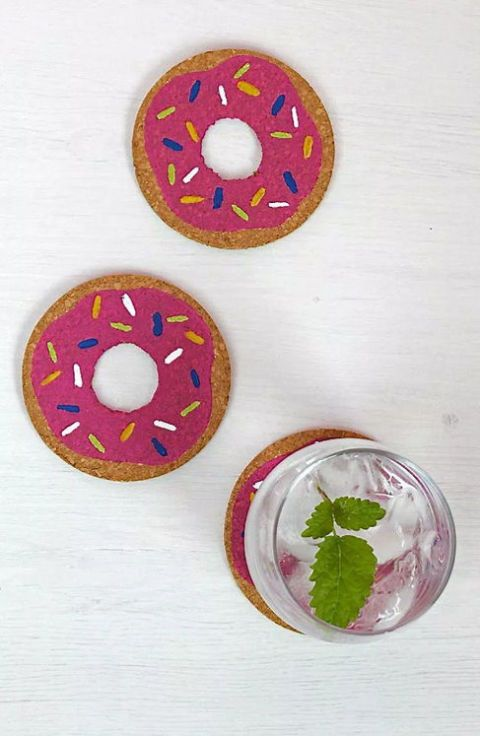 Doughnut stress—these coasters will keep your tables dry. (Get it?!) Get the tutorial at Hello Natural.