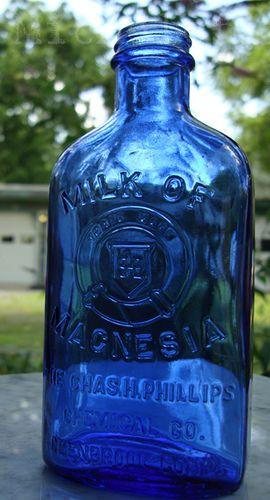Old Cobalt Blue Philips Milk of Magnesia Medicine Bottle by Michele Ford, via Flickr