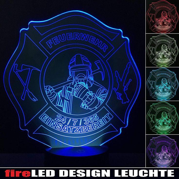 Feuerwehr Led Leuchte Lampe Nachtlicht Designleuchte Fireled Mit 6 Versch Farben Und Touchfunktion Hochwertige Einziga Mit Bildern Nachtlicht Kinder Lampen Kinder Zimmer