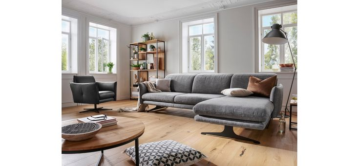 Ecksofa Natura Burnett Grau Mit Sitztiefenverstellung In 2020 Haus Wohnen Haus Deko