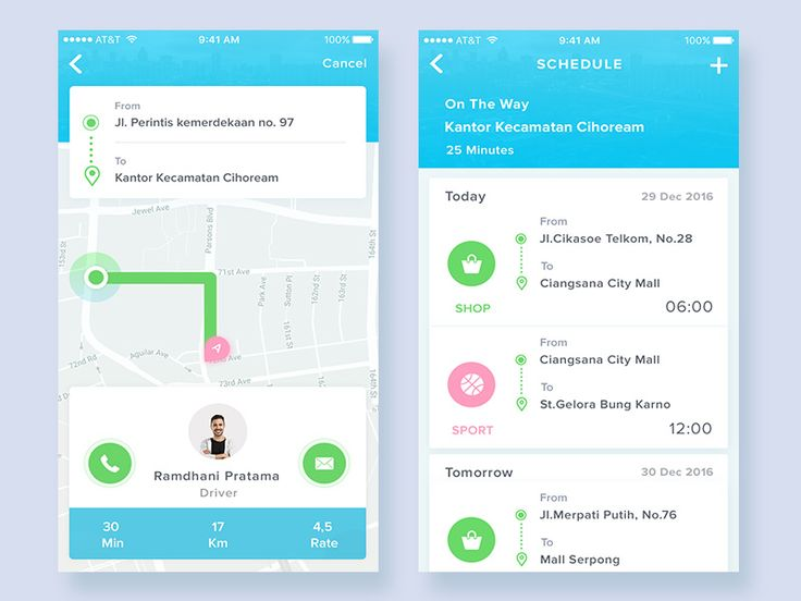 Daily Ui Day #01.  ( Taxi App ) by Fikri Ruslandi