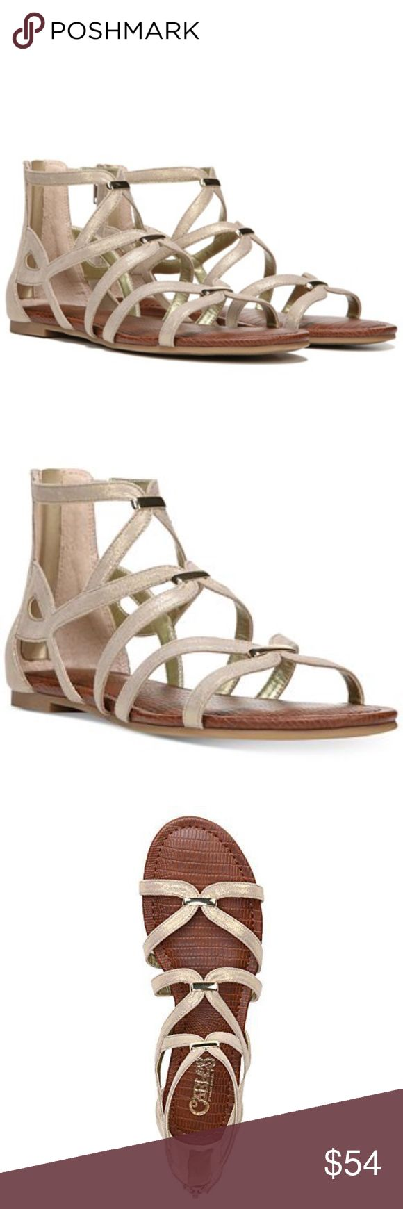 """CARLOS by Carlos Santana - Emma (Kork) NEW IN BOX  Size: 6.5 Color: Kork  DETAILS: Round open-toe strappy gladiator sandals Zipper closure at back; metallic hardware at straps 1/4"""" heel Manmade upper; manmade sole Imported Carlos Santana Shoes Sandals"""