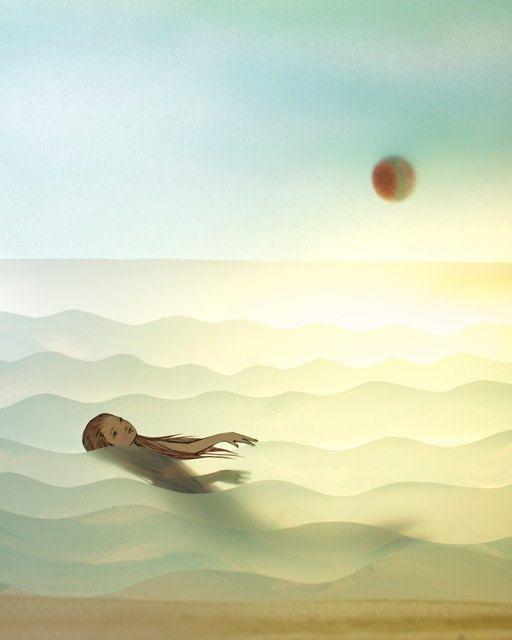 Solo  Imagen del artista del papel, Elly MacKay    Debo estar inspirado por el calor del sol estos últimos días... fantasías.    impresión