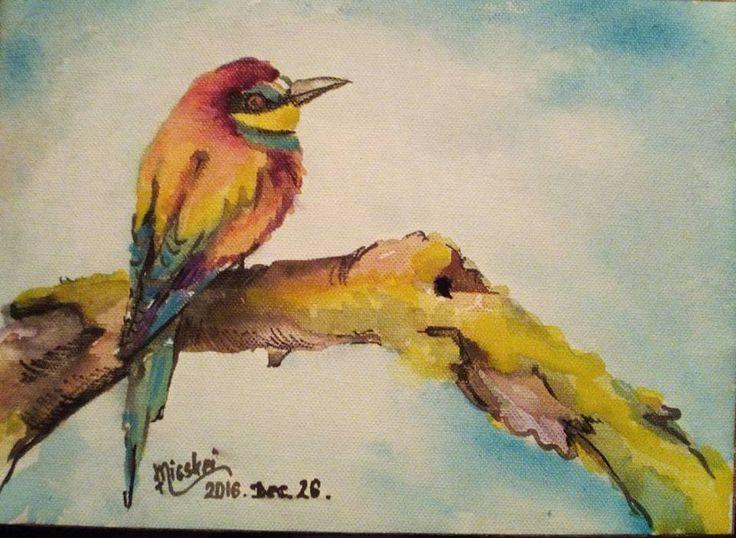 Gyurgyalag- vászon- akvarell-20x28 cm