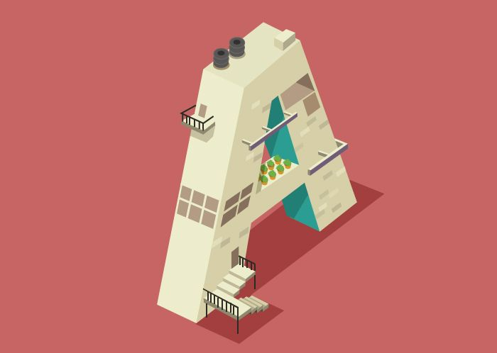 Alphabet City: Illustrations by Ranganath Krishnamani | Inspiration Grid | Design Inspiration