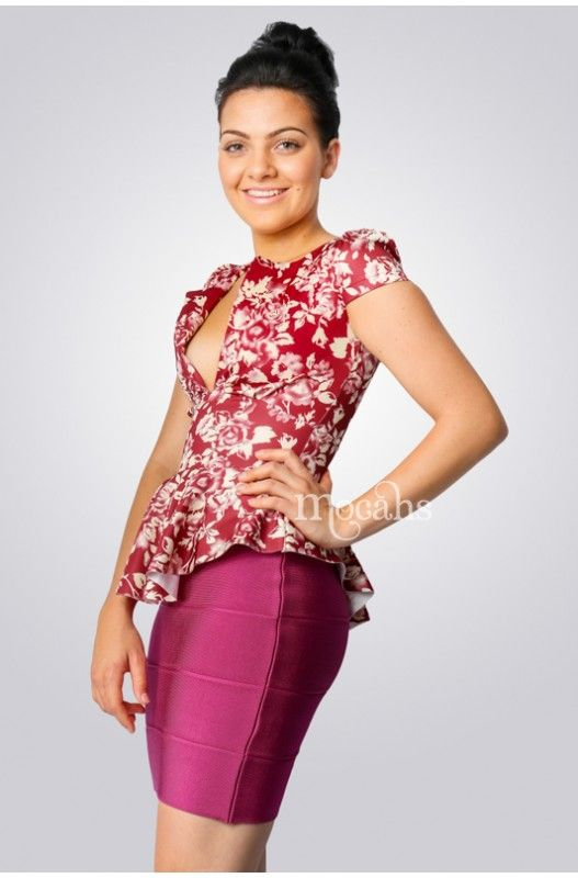 """""""Esme"""" Peplum Top- Shop Now only at A$10.00. Upto 90% Discount. Limited in Stock! Hurry Now!"""