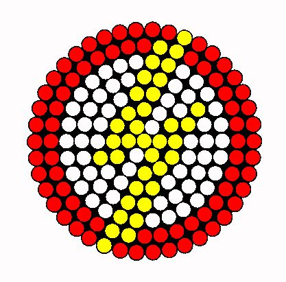 Flash Logo bead pattern  -Planning on making this and some other logos when I get a circular board