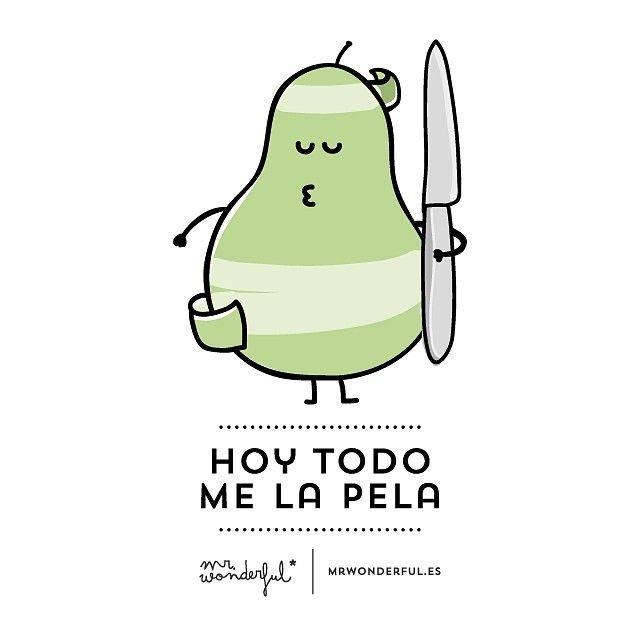 """Hoy todo me la pela..."" http://instagram.com/p/iljBnerBWU/?modal=true Mr Wonderful"