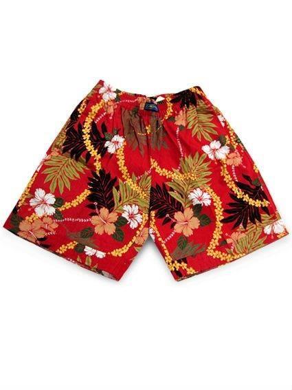 Красные гавайские шорты
