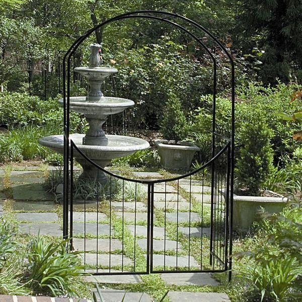 Garden Gate Arbors Designs garden gate with pergola contemporary landscape Outdoor Metal Arbor The Amazing Of Metal Garden Gates Design To Decorate Your Garden