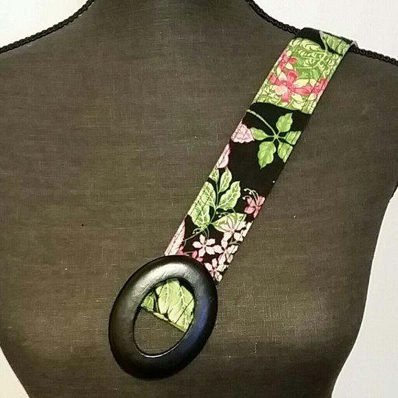 Vera Bradley reversible belt Black belt buckle Vera Bradley Accessories Belts