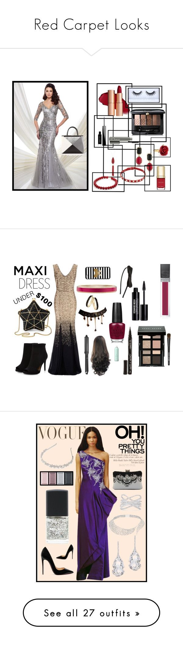 """""""Red Carpet Looks"""" by i-love-tennis ❤ liked on Polyvore featuring Mon Cheri, Fendi, Guerlain, Huda Beauty, Givenchy, MAC Cosmetics, Oscar de la Renta, 1st & Gorgeous by Carolee, New Directions and Valentino"""