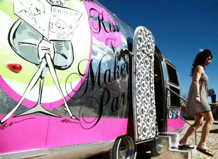 Salon on wheels! !@The Kiss N Makeup Parlour Airstream Parlour