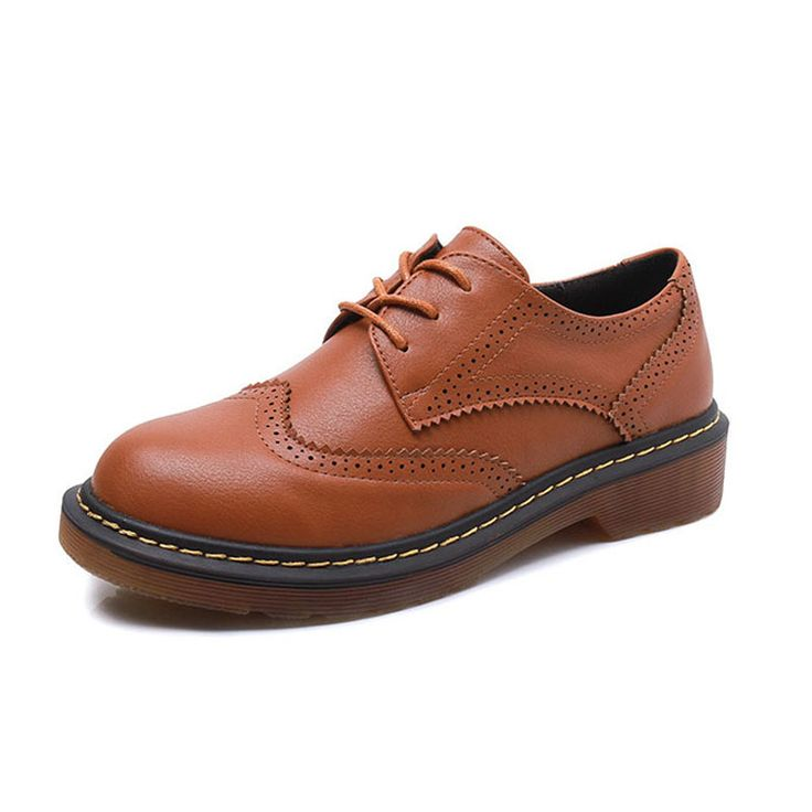 Дамы Повседневная Узелок Brogue Оксфорды Мода Круглый Toe Англия стиль Оксфорд Обувь Для Женщин Большого Размера 34-43 Обувь Женщина оксфорды