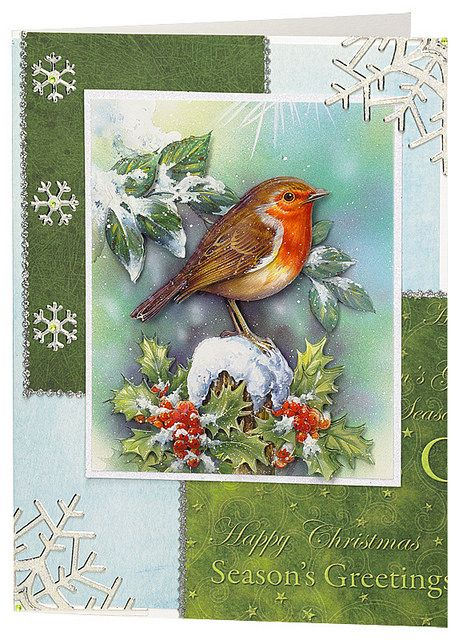 Craft Creations die cut decoupage - DCD600 Christmas Robin