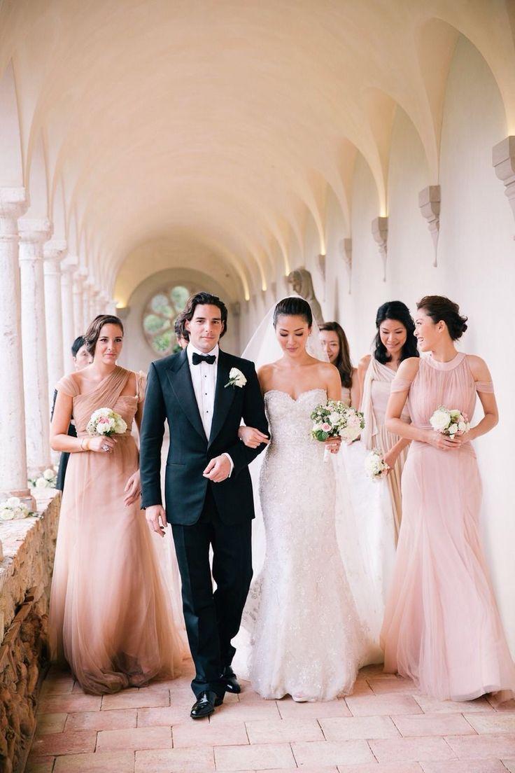 Classic pink black-tie wedding