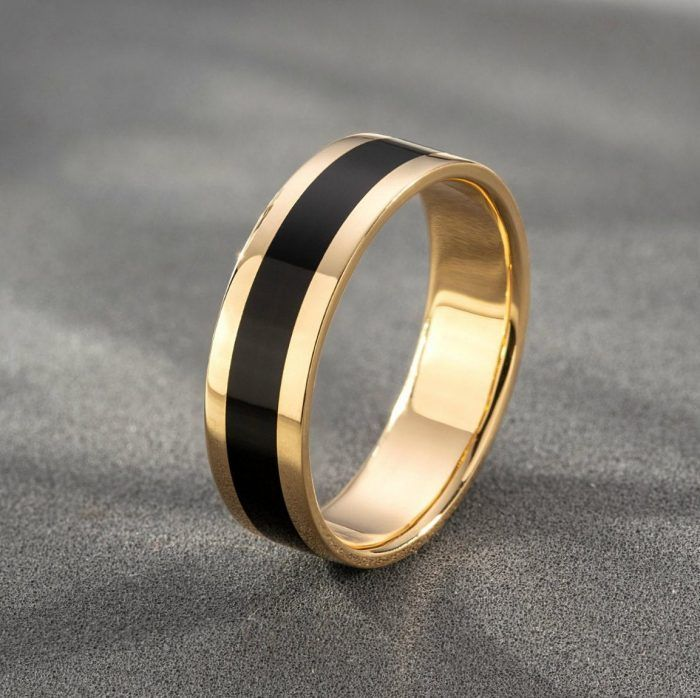 We Found The Best Unisex Wedding Bands So You Don T Have To Junebug Weddings Mens Gold Wedding Band Black Wedding Band Mens Wedding Bands