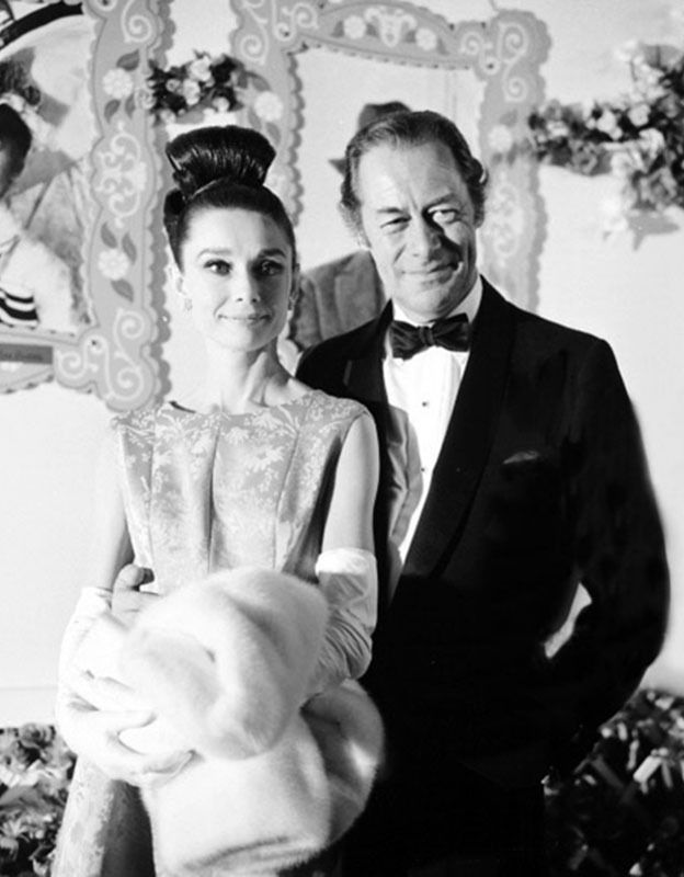 Audrey Hepburn and Rex Harrison at the premiere of My Fair Lady, 1964.