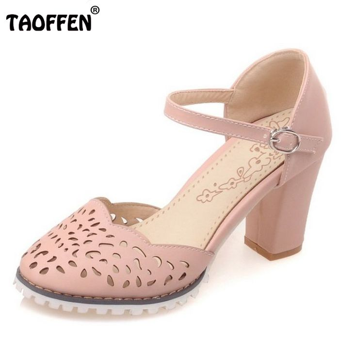 women fretwork pointed toe sandals elegant square heel shoes brand ankle  srtap heels heeled footwear plus