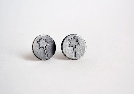 Palm Tree Earrings / Summer Earrings / Paradise by Bubblebox
