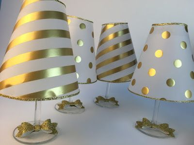 ms y ms como hacer lamparas usando copas de cristal