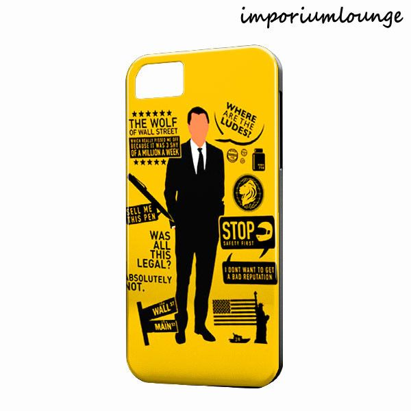 Wolf of Wall Street Quotes iPhone 4 5 6 6 Plus Case Cover