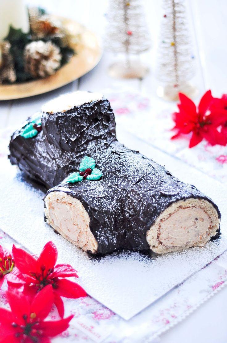 OBSESIÓN CUPCAKE: Tronco de Navidad de Turrón y Chocolate