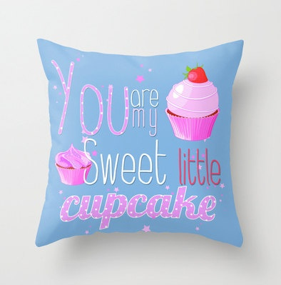 Sweet little cupcake nursery pillow..when I have a little girl she will so have this!!!